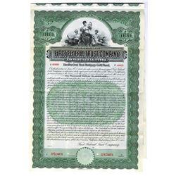 First Federal Trust Co., 1908 Specimen Bond