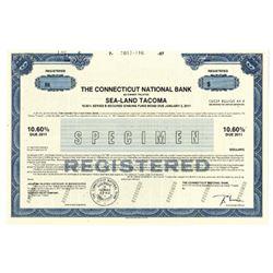Connecticut National Bank, 1987 Specimen Bond