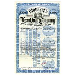 Middlesex Banking Co., ca.1900-1920 Specimen Bond