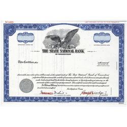 State National Bank of Connecticut, ca.1970-1980 Specimen Stock Certificate
