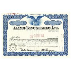 Alamo Bancshares, Inc., 1971 Specimen Stock Certificate