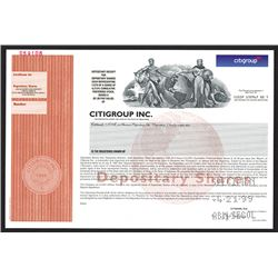 CitiGroup Inc., 1999 Specimen Stock Certificate