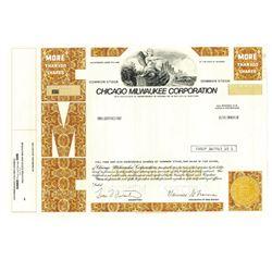 Chicago Milwaukee Corp., 1988 Specimen Stock Certificate
