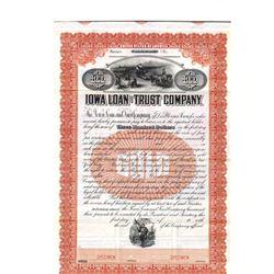 Iowa Loan and Trust Co., ca.1920-1930 Specimen Bond
