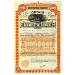 Omaha Loan and Trust Co., 1892 Specimen Bond