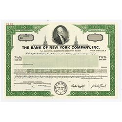 Bank of New York Co., Inc., 1991, Specimen Registered Bond.