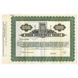 Bond Investment Trust, 1923, $- Specimen Bond.