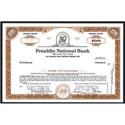 Franklin National Bank, Specimen Stock Certificate.