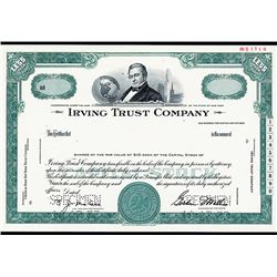 Irving Trust Co., Specimen Stock Certificate.