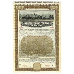 Mortgage-Bond Company of New York, 1912 Specimen Bond