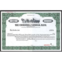 Conestoga National Bank, Specimen Stock Certificate.