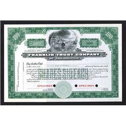 Franklin Trust Co., ca.1900-1920 Specimen Stock