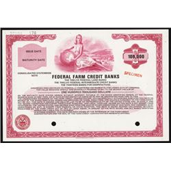 Federal Farm Credit Banks, 1971 Specimen Bond