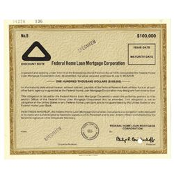 Federal Home Loan Mortgage Corp., ca.1970-1980 Specimen Bond