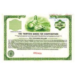 Thirteen Banks for Cooperatives, 1975 Specimen Bond