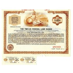 Twelve Federal Land Banks, 1974 Specimen Bond