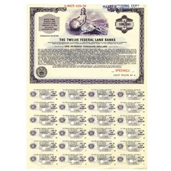 Twelve Federal Land Banks, 1976 Specimen Bond