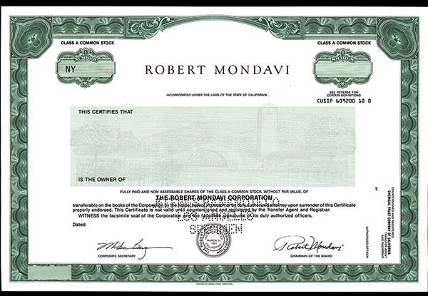 robert mondavi winery events