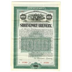 Shreveport Brewery, 1905 Specimen Bond