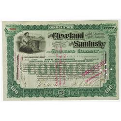 Cleveland and Sandusky Brewing Co., 1907 Issued Stock Certificate