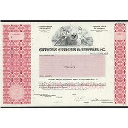 Circus Circus Enterprises, Inc., Specimen Stock Certificate.