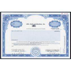 Dick Clark Productions, Inc., Specimen IPO Stock Certificate.