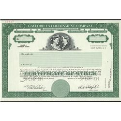 Gaylord Entertainment Co., Specimen Stock Certificate.