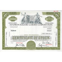 Madison Square Garden Corp., ca.1970-1980 Specimen Stock Certificate
