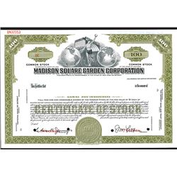 Madison Square Garden Corp., Specimen Stock Certificate.