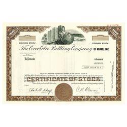 Coca-Cola Bottling Co., 1976 Specimen Stock Certificate