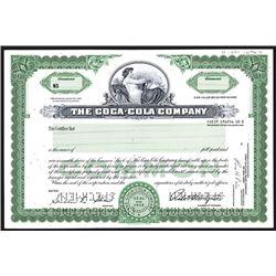 Coca-Cola Co.,ca.1960-1970 Specimen Stock Certificate.