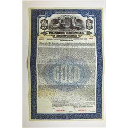 Pillsbury Flour Mills, Inc. 1923 Specimen Bond..