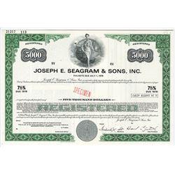 Joseph E. Seagram & Sons, Inc., 1978 Specimen Bond