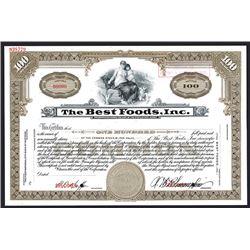 Best Foods, Inc., Specimen Stock Certificate.
