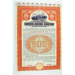 General Baking Co. 1911 Specimen Bond.