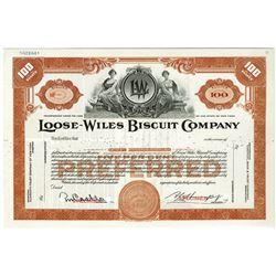 Loose-Wiles Biscuit Co., ca.1960-1970 Specimen Stock Certificate