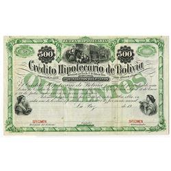 Credito Hipotecario de Bolivia, ca.1900-1910 Specimen Bond