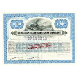"Canadian Pacific Railway Co. Overprinted in Red ""Canadian Pacific Limited"", ca.1900-1920 Specimen Bo"