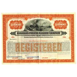Canadian Pacific Railway Co., ca.1900-1920 Specimen Bond