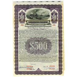 Canadian Pacific Railway Co., ca.1940-1950 Specimen Bond
