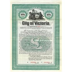Debenture of the City of Victoria, 1908 Specimen Bond