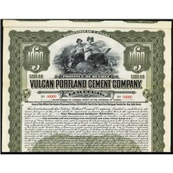 Vulcan Portland Cement Co. Specimen Bond.