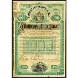 Compania del Ferro Carril Entre Cienfuegos Y Villa-Clara, 1917 Issued Bond