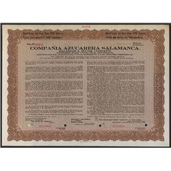 Salamanca Sugar Co., ca.1900's  Specimen Stock Certificate.