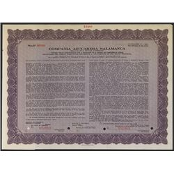 Salamanca Sugar Co., ca.1900's , Specimen Stock Certificate.