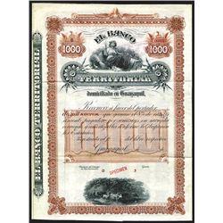 Banco Territorial ca.1900-1920 Specimen Bond. Specimen Bond.