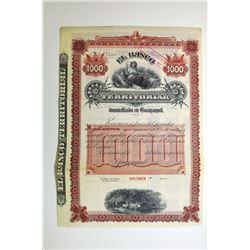 Banco Territorial en Guayaquil ca.1900-1920 Specimen Bond.