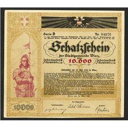 Schatztzchein der Stadtgemeinde Wien, 1920 Bond