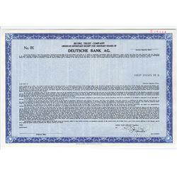 Deutsche Bank AG., 1986 Specimen Stock Certificate