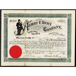 Albert F. Remy Co., Issued Stock Certificate.